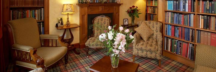 The guest lounge at 2 Quail in Dornoch