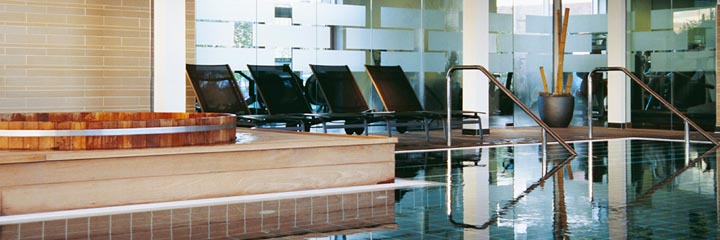 The Yu Spa swimming pool at the Apex City Quay Hotel, Dundee