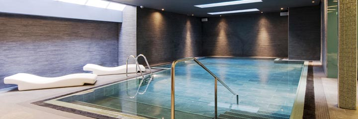 The Pure Spa swimming pool at the Apex Waterloo Place Hotel, Edinburgh