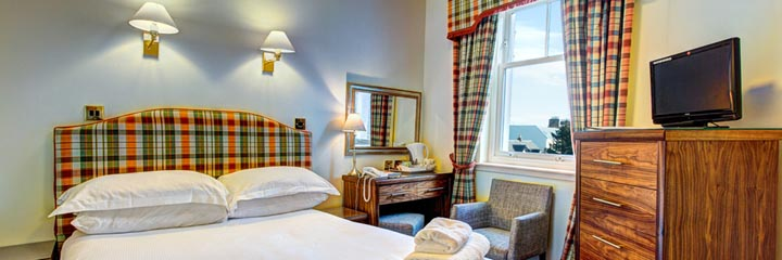 A double bedroom at the Ardgowan Hotel in St Andrews