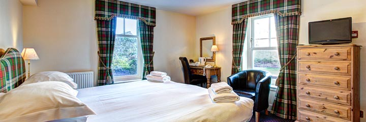 A kingsize bedroom at the Ardgowan Hotel in St Andrews