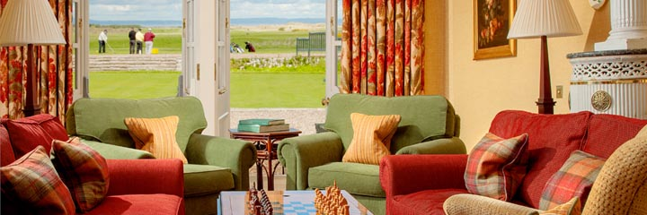 The drawing room lounge at Greywalls Hotel in Gullane