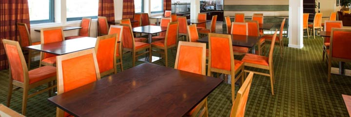 The breakfast area at the Holiday Inn Express Dunfermline