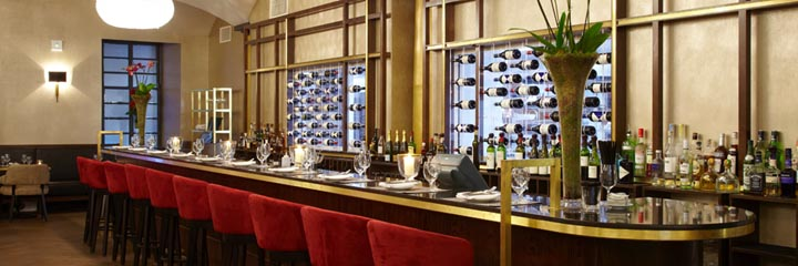 The Brasserie bar at the Malmaison Glasgow Hotel