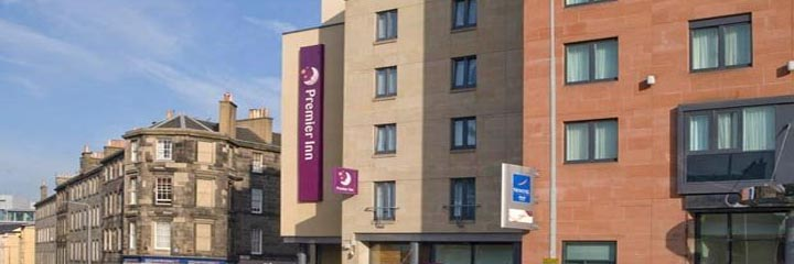 An external view of the Premier Inn Edinburgh Central in Lauriston Place
