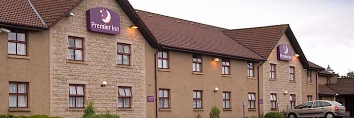 An external view of the Premier Inn Falkirk North hotel