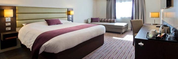 A family bedroom at the Premier Inn Glasgow Braehead hotel