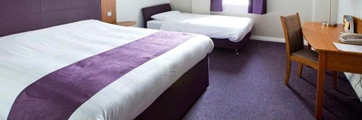 A family bedroom at the Premier Inn Glasgow City Centre Buchanan Galleries hotel