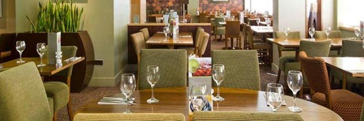 The restaurant at the Premier Inn Glasgow City Centre George Square hotel