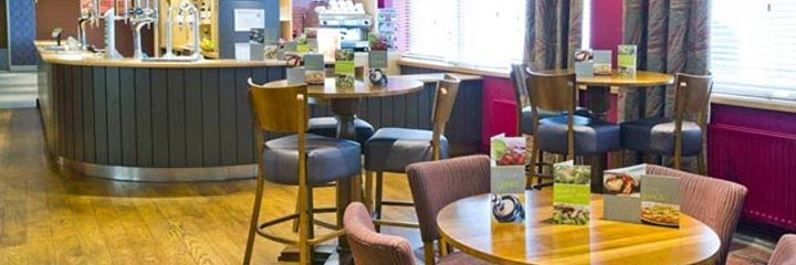The bar at the Premier Inn Glasgow City Centre George Square hotel