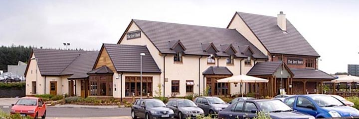 An exterior view of the Beefeater restaurant by the Premier Inn East Kilbride Nerston Toll hotel