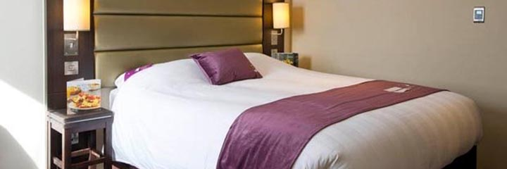 A double bedroom at the Premier Inn Perth City Centre hotel