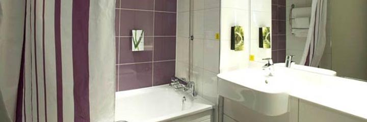 A bathroom at the Premier Inn Perth City Centre hotel