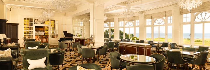 The Grand Tea Lounge and Bar at the Trump Turnberry Hotel