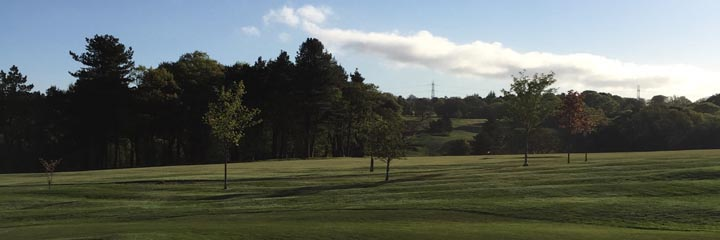 a view across the woodland course of Airdrie Golf Club