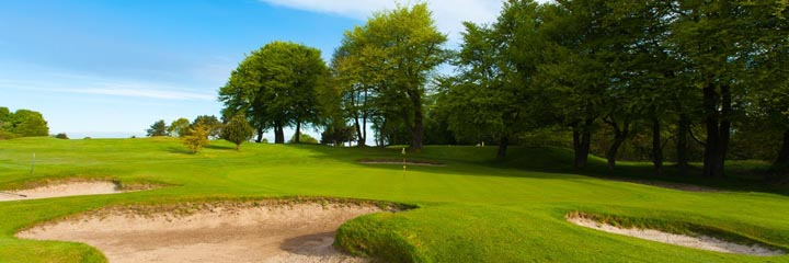The 8th hole on the championship course at Cawder Golf Club