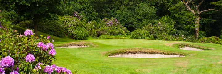 The 13th green of the championship course at Cawder Golf Club