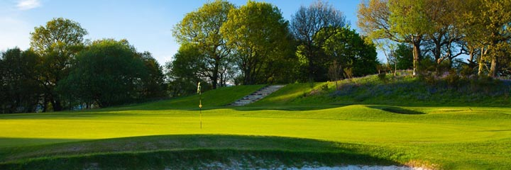 The 7th green of the championship course at Cawder Golf Club, near Glasgow city centre
