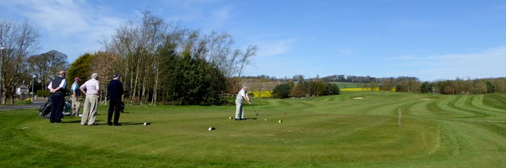 The golf course at Cluny Activities in Fife