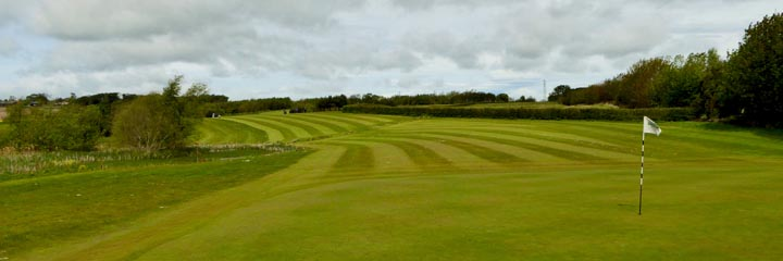 The 9 hole golf course at Cluny Activities in Fife