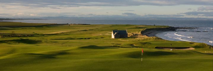 The 13th and 14th holes of Crail Balcomie Links