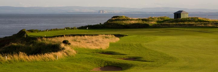 The 14th hole on Craighead Links at Crail Golfing Society