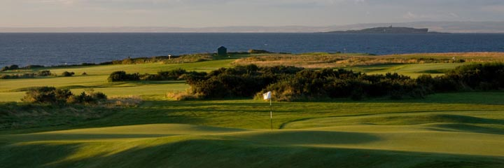 The 4th hole on Craighead Links at Crail Golfing Society
