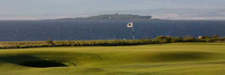 The 1st hole on Craighead Links at Crail Golfing Society