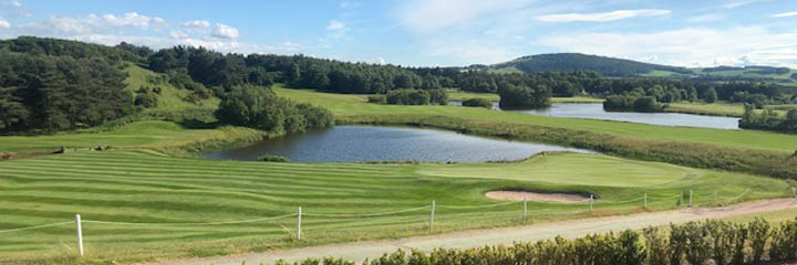 Drumoig golf course includes a number of challenging water features
