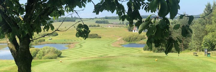 A view across the inland Drumoig golf course, close to St Andrews