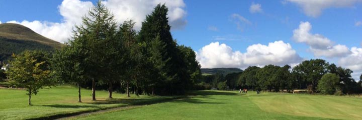 A view of Falkland golf course