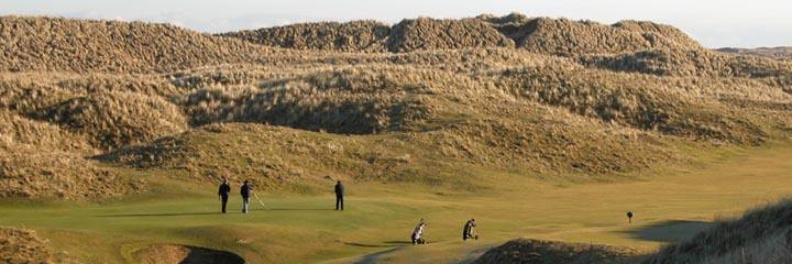 The 15th hole of the Corbiehill course at Fraserburgh Golf Club