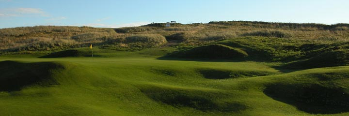 The 2nd hole of the Corbiehill course at Fraserburgh Golf Club