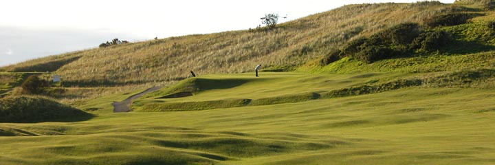 The 4th hole of the Corbiehill course at Fraserburgh Golf Club