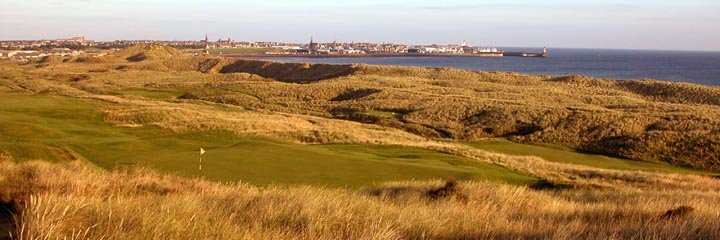 The 3rd hole of the Corbiehill course at Fraserburgh Golf Club