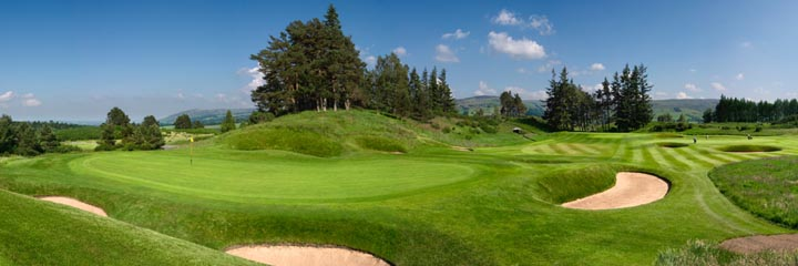 The 16th hole of the Gleneagles King's course