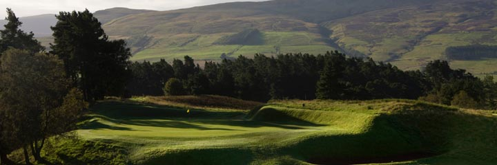 The 9th hole of the Gleneagles King's course