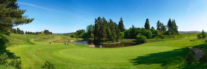 The 13th and 14th holes of the Queen's course at The Gleneagles Hotel