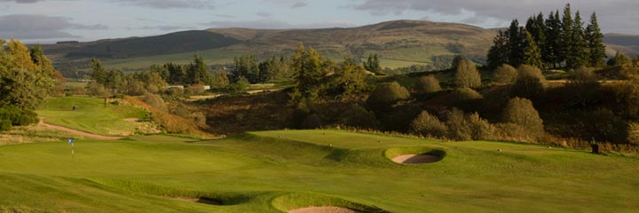 A view of the Queen's course at The Gleneagles Hotel