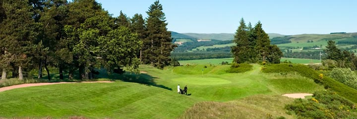 The 17th hole of the Queen's course at The Gleneagles Hotel