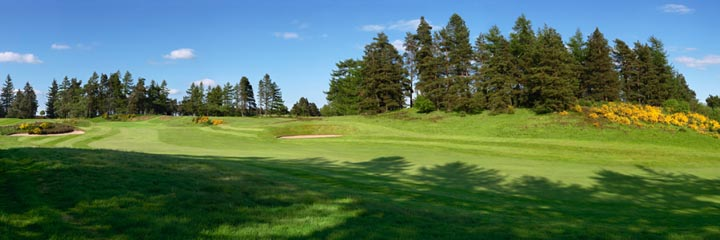 The 9th hole of the Queen's course at The Gleneagles Hotel