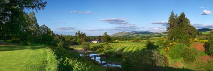 The 18th hole of the Queen's course at The Gleneagles Hotel