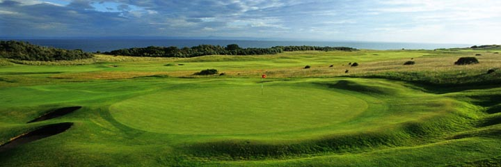 A view of the Gullane No 1 course at Gullane Golf Club