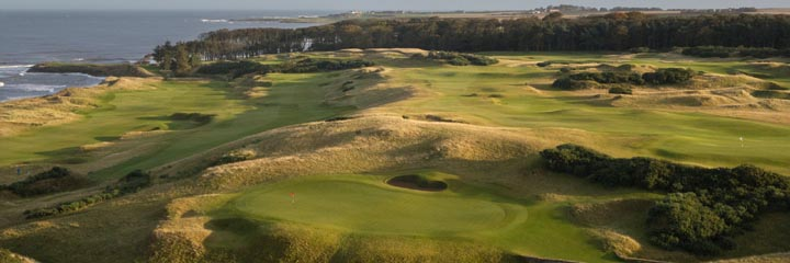 The 18th hole at Kingsbarns Golf Links