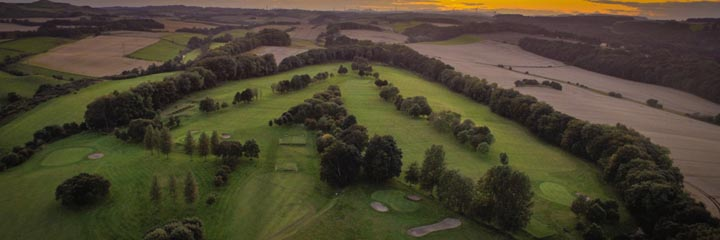An aerial view of Kirkcaldy golf course