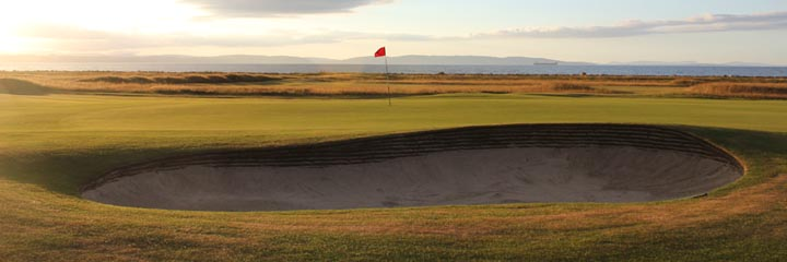 The 16th green of the Nairn Championship course