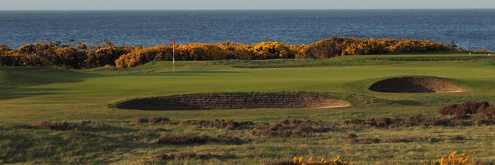 The 10th green at the Nairn Championship course
