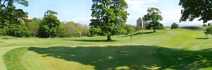A view of Niddry Castle golf course