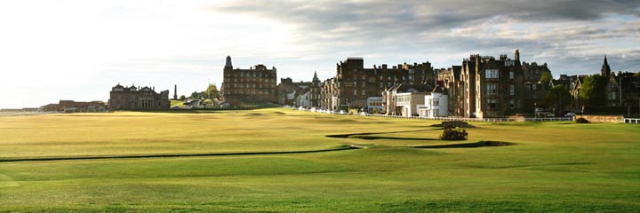A view of the 18th hole at the Old Course, St Andrews