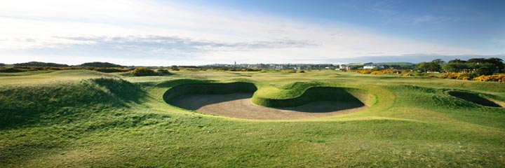 The 14th hole at the Old Course, St Andrews